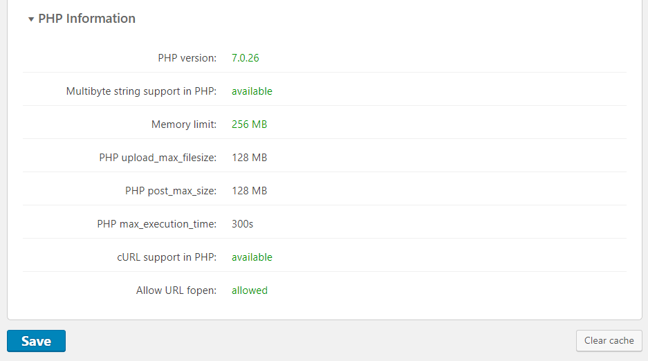 Dashboard-PHP Information