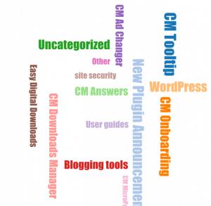 WordPress forum Widgets- CM Answers Widget Word Cloud