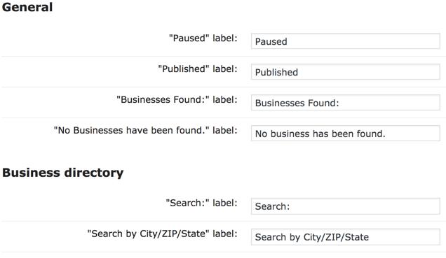 Plugin Settings Showing Label Localization