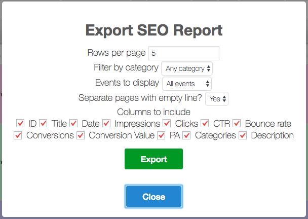 SEO Keyword Hound 1.1.0 Update - Export