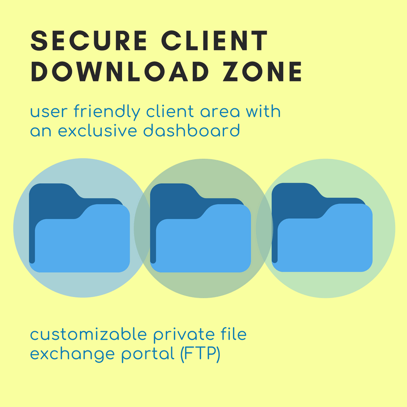 Secure download zone for file transfer (FTP)