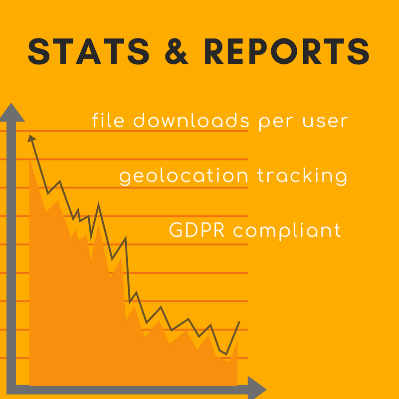Get detailed statistics and reports on download activity
