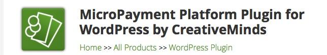 WordPress MicroPayment Plugin