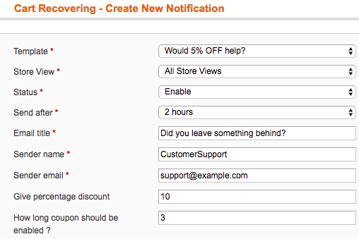 Setup new recovery email