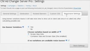 Responsive banners settings