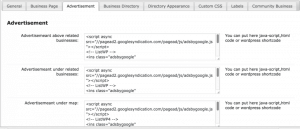 CM Business Directory Ads Settings