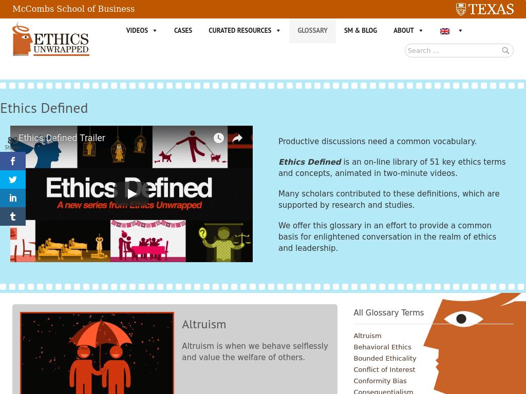 Ethics Unwrapped Utexas